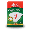 Melitta #4 Cone Filters (White) (40ct)