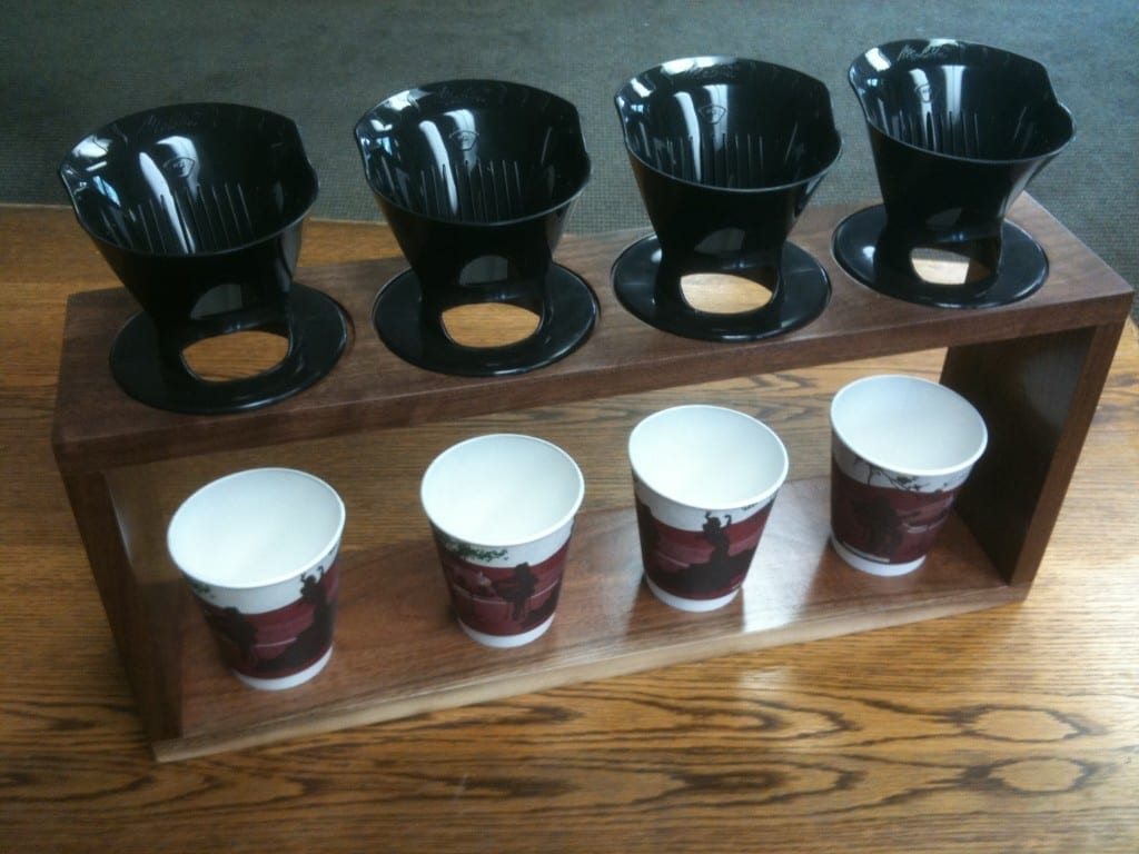 4 cup manual pour over coffee brewing station