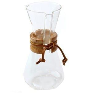 Chemex 3 Cup (Pint) coffeemaker with wood collar and tie