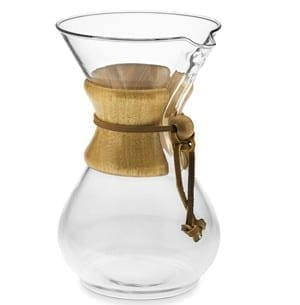 Chemex 6 Cup (30 ounce) coffeemaker with wood collar and tie
