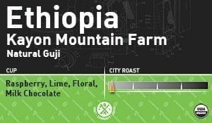 Ethiopia Kayon Mountain Farm, Natural Guji