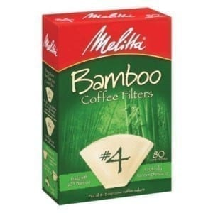 Melitta #4 Coffee Filters 80/box (Bamboo)