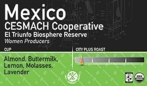 Mexico CESMACH Cooperative – El Triunfo Biosphere Reserve, Women Coffee Producers